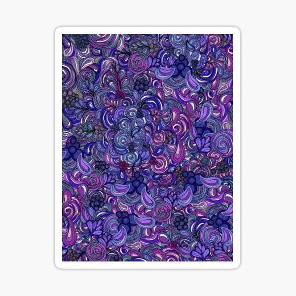 Purple n Pink Swirl Pattern Sticker