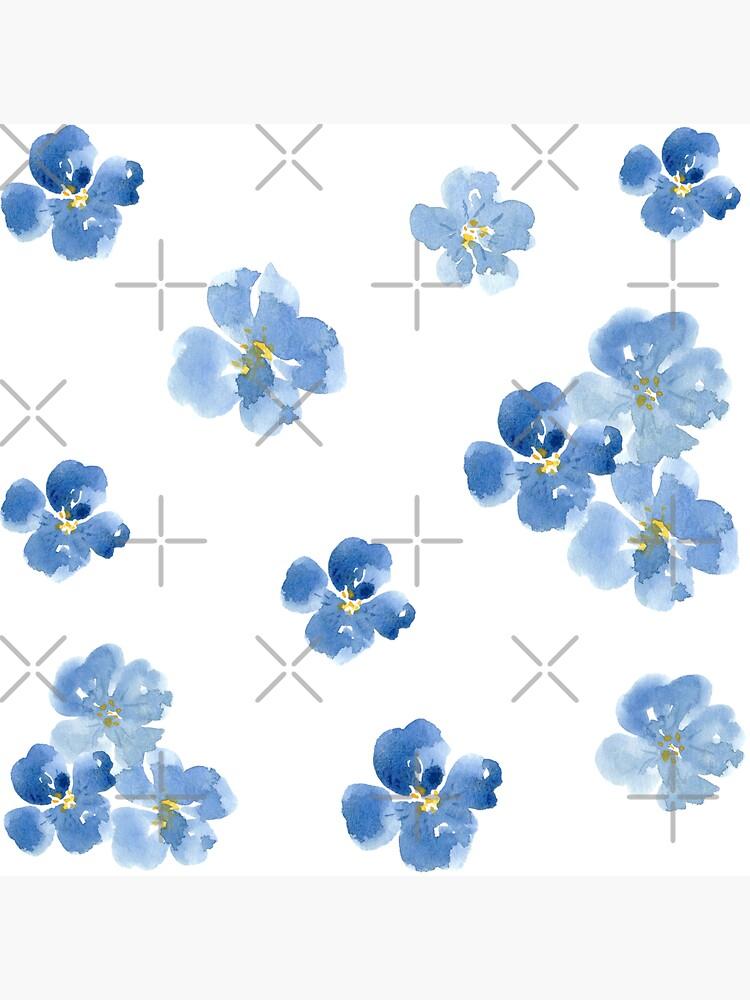 Pequeñas Flores Azules ~ Pegatinas de ApricotBlossom
