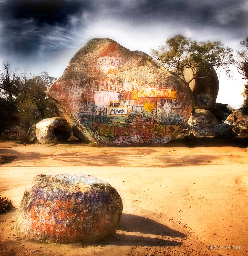 The Rock Is My Canvas by wellman