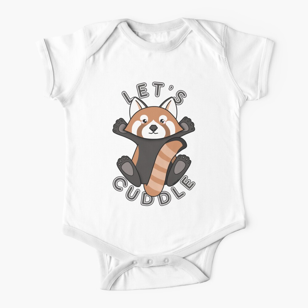 Lets cuddle a cute red panda Baby One-Piece