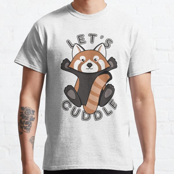 Permet de câliner un joli panda rouge T-shirt classique