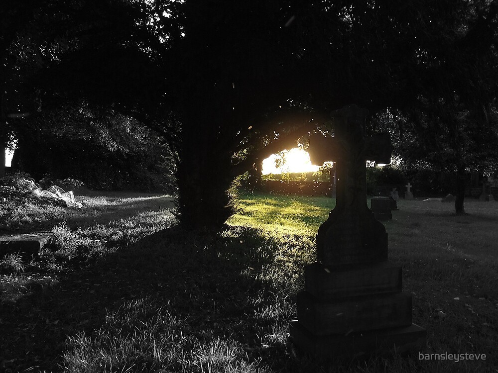 Ray of light Graveyard by barnsleysteve