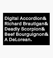 Digital Accordion Photographic Print