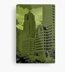 Green Seattle Metal Print