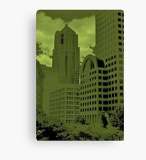 Green Seattle Canvas Print