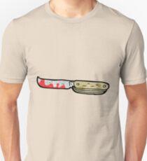cartoon bloody folding knife Unisex T-Shirt
