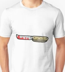 cartoon bloody folding knife Unisex T-Shirt