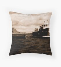 Coming home ( Holy island Northumberland ) Throw Pillow