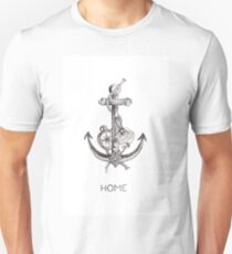 Home II (Anchor, Dagger, Rose, Compass Larry Tattoos) Unisex T-Shirt