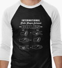 Rock Paper Scissor international Men's Baseball ¾ T-Shirt