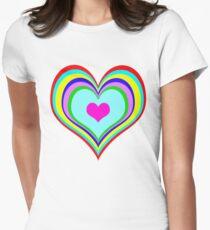 Retro Heart Women's Fitted T-Shirt
