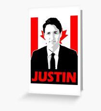 JUSTIN Greeting Card