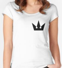 Kingdom Hearts Crown Fitted Scoop T-Shirt