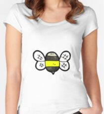 cartoon bumble bee Women's Fitted Scoop T-Shirt