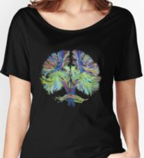 Tractography on black Women's Relaxed Fit T-Shirt