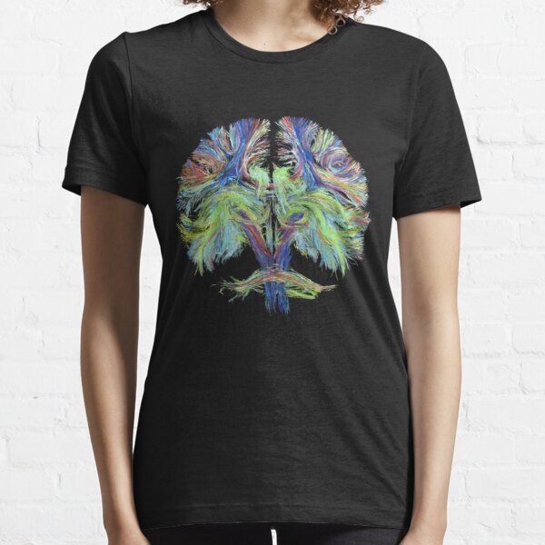 Tractography on black Essential T-Shirt