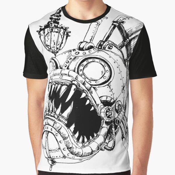 Steampunk Fish Graphic T-Shirt