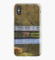 The Swing Bridge At Sulhamstead iPhone Case/Skin