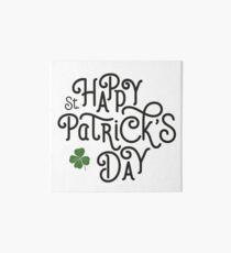 Typographic irish – happy st patricks day 2017 – hand lettering Art Board