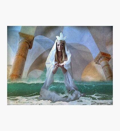 ...the Goddess and Birth of a Temple in the Sea... Photographic Print
