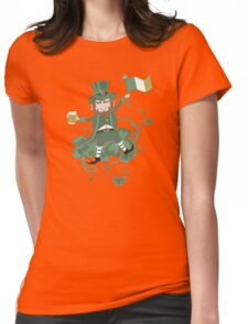 leprechaun dance - st patricks day 2017 - traditional Womens Fitted T-Shirt
