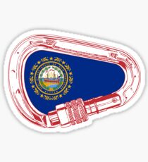 New Hampshire Flag Climbing Carabiner Sticker