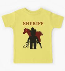 """SHERIFF"", Customize My Minifig Kids Tee"