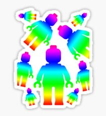 RAINBOW MINIFIGS Sticker