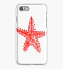 Red starfish watercolor iPhone Case/Skin