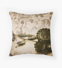 Vintage Shavings Throw Pillow
