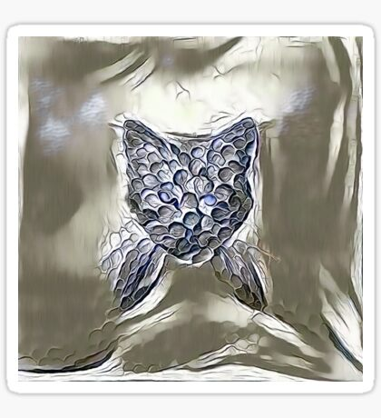 Ninja cat hiding in silver Sticker