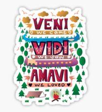 Veni, Vidi, Amavi Sticker