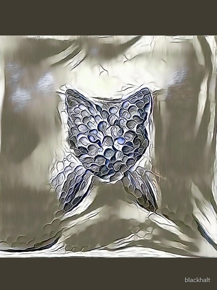 Ninja cat hiding in silver by blackhalt