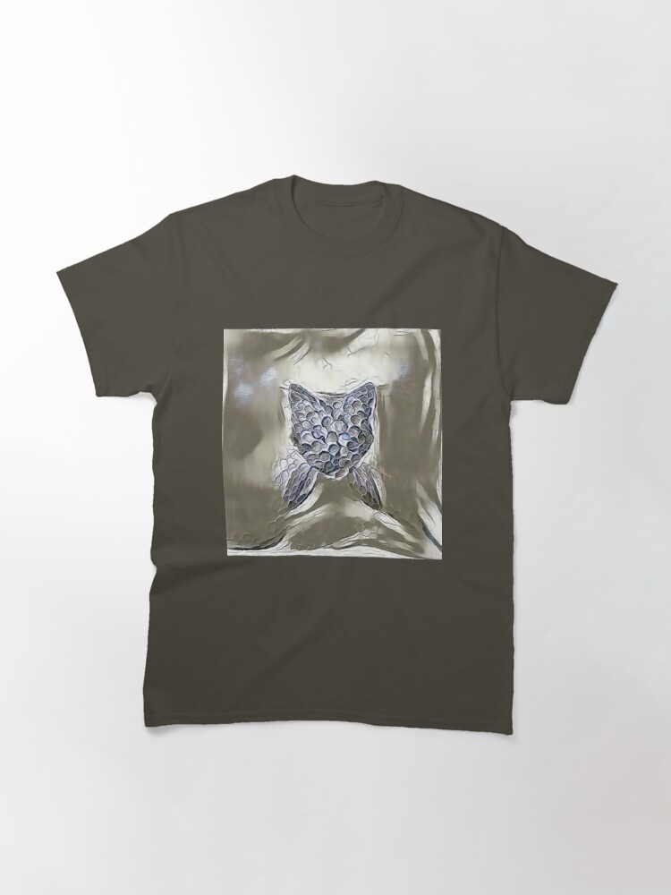 Alternate view of Ninja cat hiding in silver Classic T-Shirt