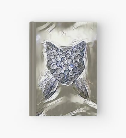 Ninja cat hiding in silver Hardcover Journal