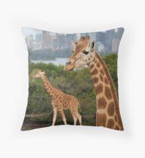 Giraffe Tower Throw Pillow