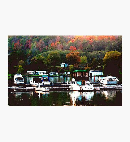 Fall Harbour Photographic Print