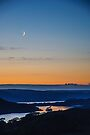 Crescent Moon Over Kernsary by Mark Greenwood