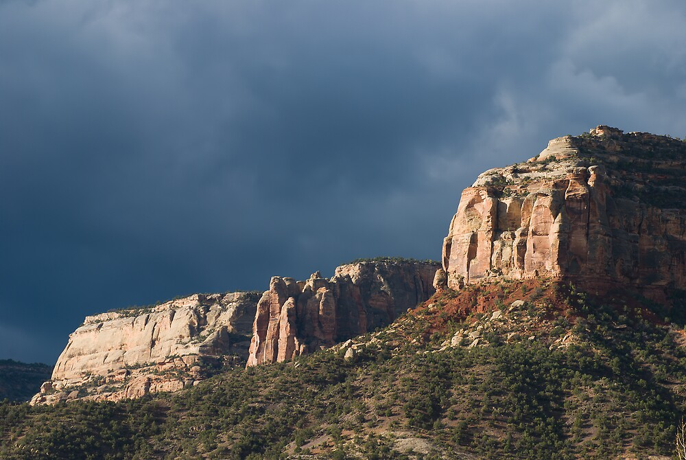 Dramatic Cliffs Landscape by Linda J Armstrong