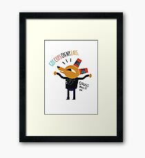 Got cups on my ears. - Night in the woods Framed Print