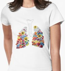 Floral Lungs Fitted T-Shirt