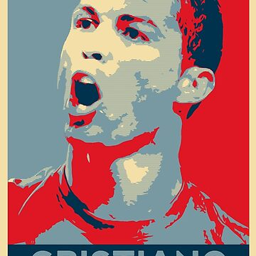 "Cristiano Ronaldo Portrait inspired by the Barack Obama ""Hope"" poster designed by Shepard Fairey. by StRes"
