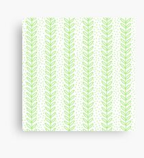 Green Leaf seamless pattern. Simple Nature  fresh  background. Canvas Print