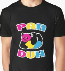 Pan Duh Panda Pansexual LGBT Pride Graphic T-Shirt