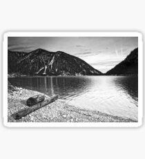 Icy Cold Lake Plan Sticker
