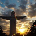 He Is Risen - Christ of the Ozarks - Eureka Springs by Gregory Ballos