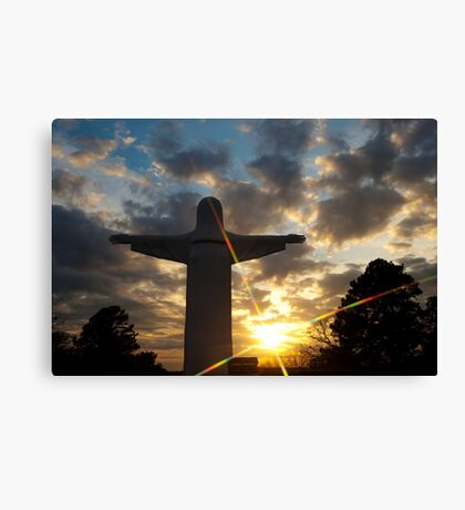 He Is Risen - Christ of the Ozarks - Eureka Springs Canvas Print