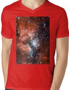 Red Galaxy 2.0 Mens V-Neck T-Shirt