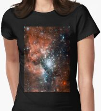 Red Galaxy 2.0 Women's Fitted T-Shirt