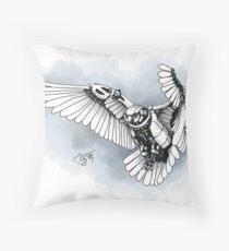 Lazer owl Throw Pillow